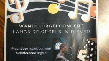 Wandelconcert langs de orgels van Diever