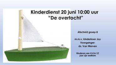 Kinderdienst zondag 20 juni